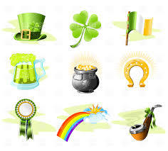 st patrick u0027s day icon set vector image 4850 u2013 rfclipart