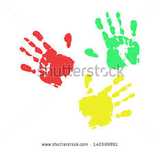 print of hand from ink colorful rgb fun red ink art oil baby