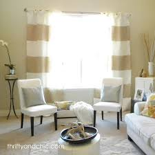 Navy Blue And White Horizontal Striped Curtains Striped Burlap Curtains Curtain Tutorial Burlap And Tutorials