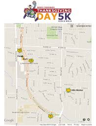 thanksgiving day 10k course map ward parkway thanksgiving day run