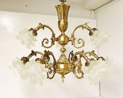 Vintage French Chandeliers Brass Chandelier Etsy