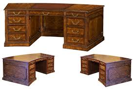Office Desk Leather Top Leather Top Mahogany Executive Desk Antique Reproducti