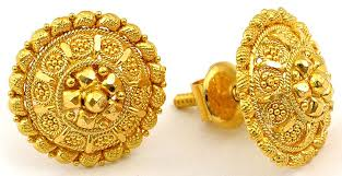 gold earrings tops goldearrings narithookkil jewellery