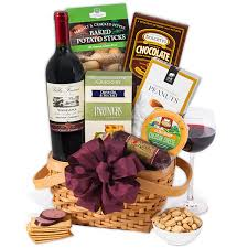 christmas wine gift baskets classic wine gift basket by gourmetgiftbaskets