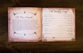 wedding program book kelli murray wedding programs