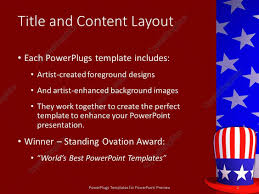 Big American Flags Powerpoint Template Big American Hat With An American Flag As Its