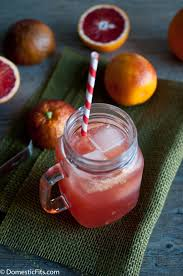 red rover blood orange and bourbon cocktail