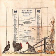 thanksgiving menu ideas from vintage marine corps menus are you