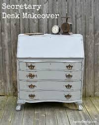 Repurposed Secretary Desk Claw Foot Secretary Desk Makeover My Creative Days
