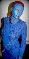 Mystique Halloween Costume Coolest Homemade Mystique Red Hair Spray Painting Plastic