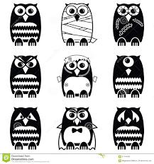 Halloween Owls Halloween Scary Spooky Mummy Cyclops Vampire Monster Zombie