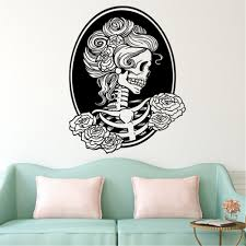 Halloween Skull Decorations Bibitime Halloween Skull Wall Art Decal Halloween Decorations On