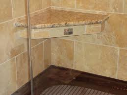bench amazing teak corner shower seat bathroom pertaining to