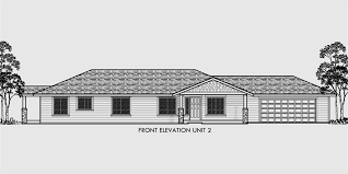 most popular floor plans one level duplex house plans corner lot duplex plans narrow lot