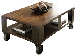 side table on casters wonderful coffee table with wheels and storage 12272 throughout