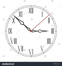 simple black white clock fourteenth edition stock vector 662382013