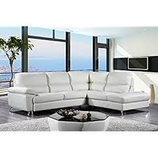 Contemporary Sectional Sofa With Chaise Amazon Com Cortesi Home Contemporary Miami Genuine Leather