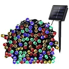 solar powered christmas lights qedertek 200 led solar powered christmas lights 72ft