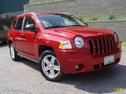 red jeep compass interior 2007 inferno red crystal pearlcoat jeep compass sport 31851554