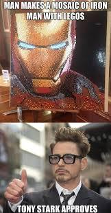 Funny Lego Memes - iron man lego mosaic funny pinterest lego mosaic mosaics