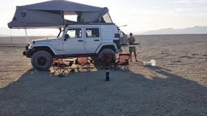 overland jeep tent 2012 jeep rubicon unlimited u0026 chaser trailer habitatjk tent aev