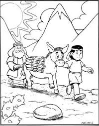 abraham offers isaac coloring page sunday children u0027s