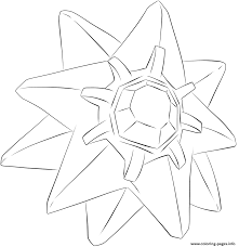 121 starmie pokemon coloring pages printable