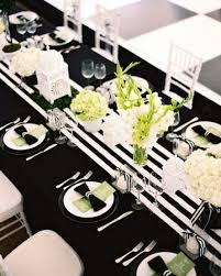 Black And White Striped Table Runner Wedding Wedding And Bridal