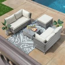 Overstock Patio Chairs Fresh Overstockcom Outdoor Furniture Or 4 Grey Wicker Patio