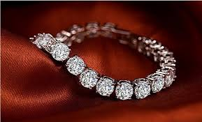 sterling silver bracelet with diamond images Wonderful sona bracelet for women 925 sterling silver 750 white jpg