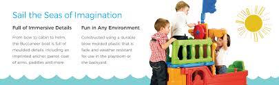 amazon com ecr4kids indoor outdoor buccaneer play boat with