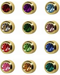 studex earrings 12 pairs of studex ear piercing birthstones gold plated stud