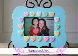 valentine candy frame yesterday on tuesday