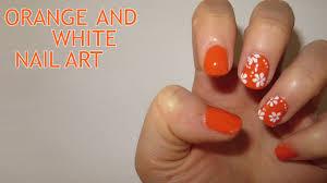 24 orange and black nail art designs 35 orange nail art designs