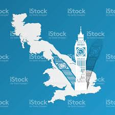 England On The Map by Big Ben On The Map Of Great Britain Stock Vector Art 482547438