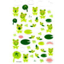 cartoon frog toad illustrated animal jelly puffy scrapbooking