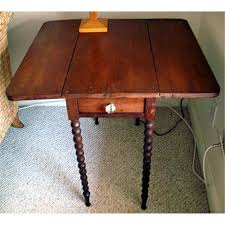 Drop Leaf End Table Antique Spindle Leg Drop Leaf Table