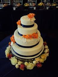 mimi to you sweet and stylish cakes navy and peach wedding cake