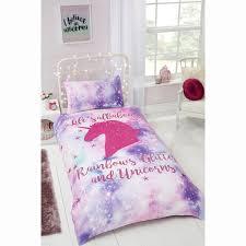 Unicorn Bed Set Rainbow Unicorn Single Duvet Set Bedding B M