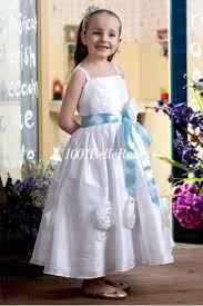 tenue enfant mariage de cortège enfant pour mariage en stain et organza avec ceinture fleur