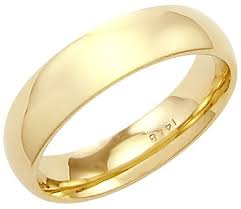 plain gold wedding bands 14k solid yellow gold plain dome wedding heavy ring band 4mm