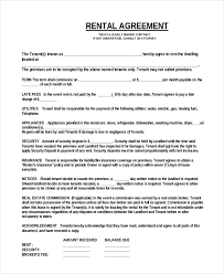 sample home rental agreement details house rental agreement