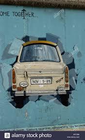 berlin wall germany trabant car graffiti mural paint painted stock berlin wall germany trabant car graffiti mural paint painted