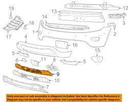 jeep chrysler white jeep chrysler oem 14 15 grand cherokee grille lower 68141936ad ebay