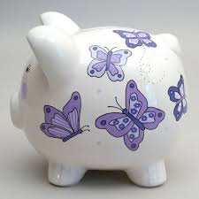 Engraved Piggy Bank Your Gift Recipient Will Be All Aflutter When They Open This Hand