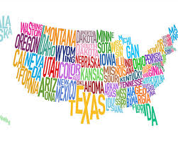 map of us states poster united states executive poster size and tubed national hammond
