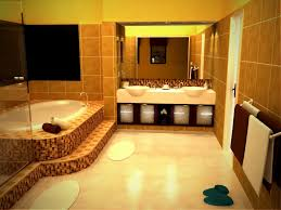 bathroom decor ideas for apartments bathroom glossy yellow wall for apartment bathroom in small