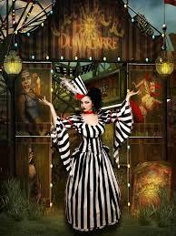 Black White Striped Halloween Costume 123 Creepy Carnevil Images Costumes Halloween