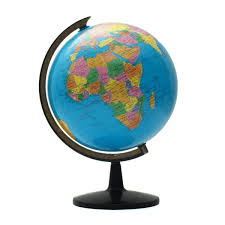 modern 32cm world globe map ornaments with swivel stand world map