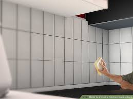 how to install backsplash in kitchen how to install a kitchen backsplash with pictures wikihow